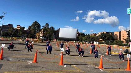 Autocine Cine Colombia en Unicentro, Bogotá (Foto: @MunirFalah)