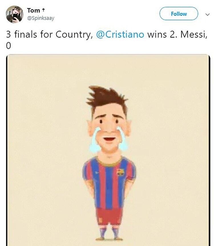 """""""Tres finales con su país, Cristiano ganó 2. Messi, 0"""""""