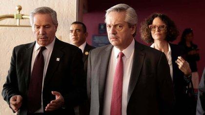 Felipe Solá junto al presidente Alberto Fernández