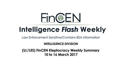 """El reporte semanal confidencial de la FinCEN que recoge alertas bancarios por operaciones sospechosas, denominado """"Cleptocracia"""", al que tuvo acceso Infobae."""