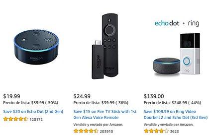 Ofertas de productos Amazon