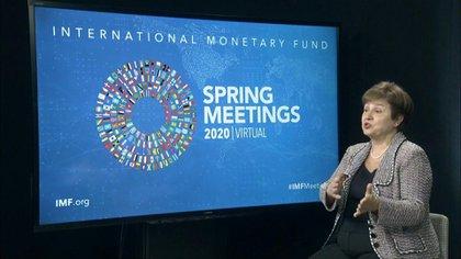 La directora-gerente del FMI, Kristalina Georgieva, a cuyo apoyo apuesta el gobierno