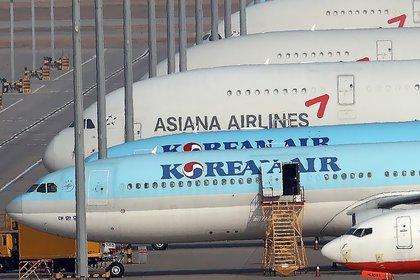Aviones de Korean Air en el aeropuerto de Seúl (EFE/EPA/YONHAP)