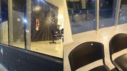 Algunos de los proyectiles impactaron contra las sillas