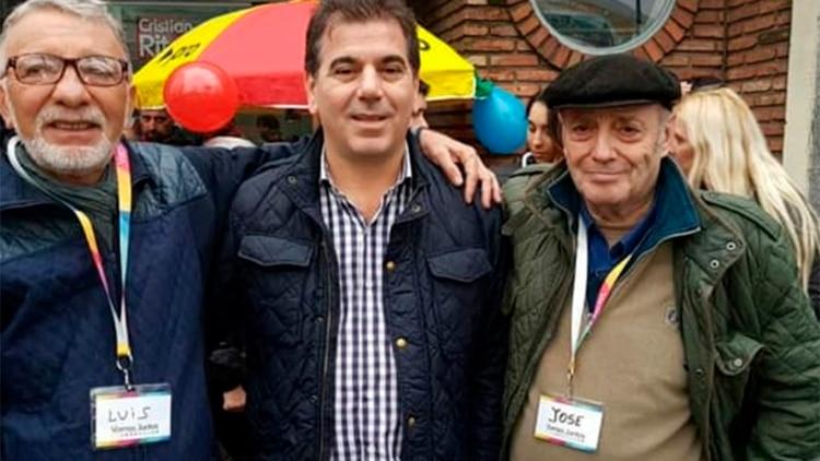 Ángel Spotorno junto al diputado Cristian Ritondo.