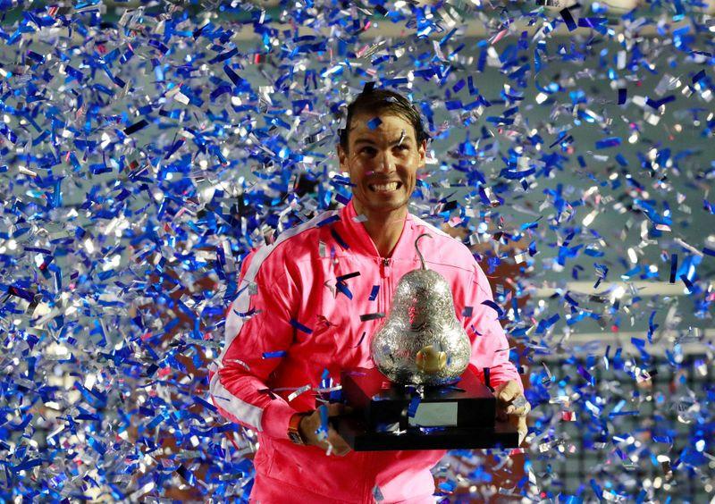 Rafael Nadal celebrando tras ganar el ATM 2020 (Foto: Reuters)