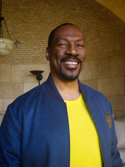 In a photo made remotely, Eddie Murphy at his home in Hollywood Hills, Los Angeles, Feb. 12, 2021. Bella Murphy contributed additional camera operating. (Brad Ogbonna/The New York Times)
