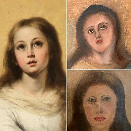 """La obra original y sus dos """"restauraciones"""""""