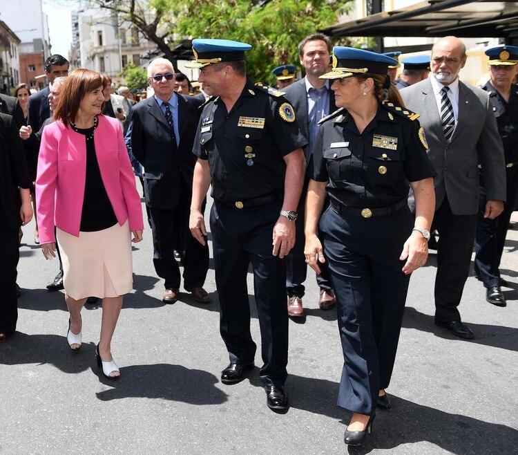La ministra Bullirch, defensora del uso de las armas de fuego por parte de las fuerzas de seguridad (Maximiliano Luna)