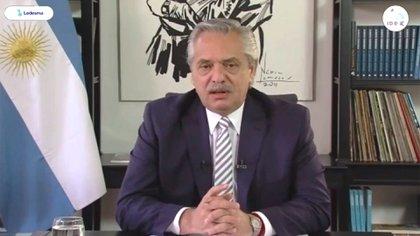 Alberto Fernández en la apertura del Coloquio 2020
