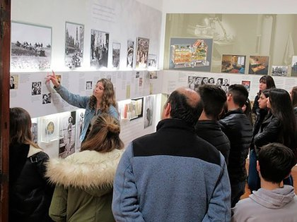 Una de las tantas visitas realizadas en el Centro Ana Frank.