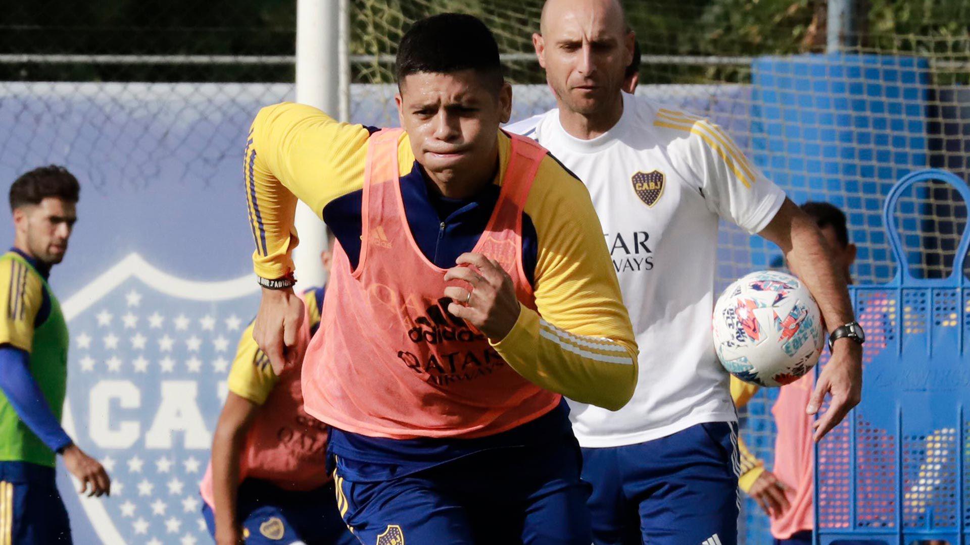 Marcos Rojo entrenamiento Boca