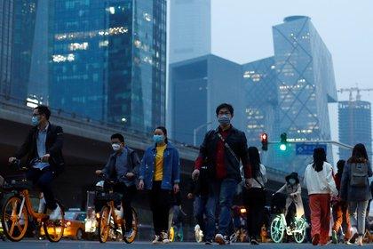 El distrito de negocios de Beijing en abril (REUTERS/Thomas Peter)
