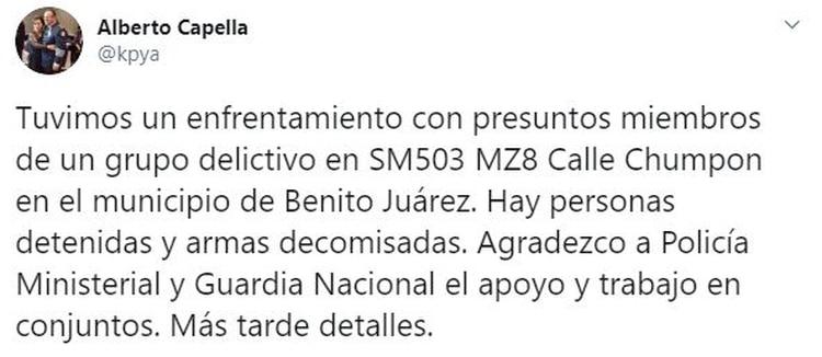 El secretario de Seguridad Estatal informó que detuvieron a varias personas tras el enfrentamiento (Foto: Twitter/kpya)