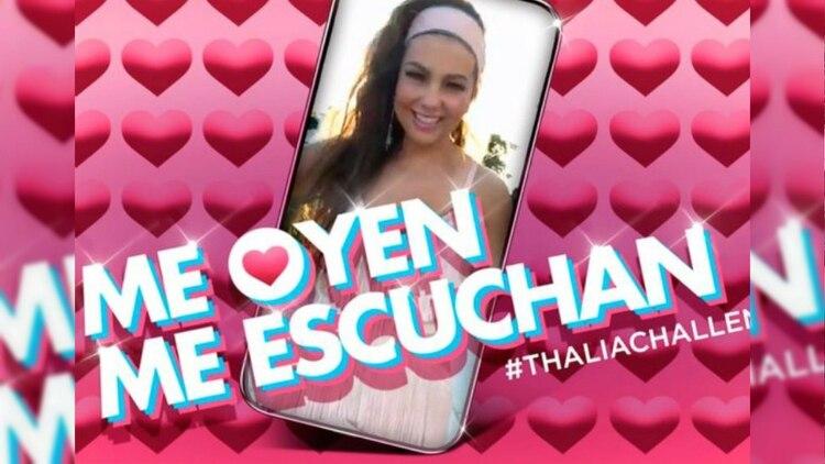 "Thalía se hizo viral en redes con el ""Me oyen, me escuchan"" (Instagram Thalia)"