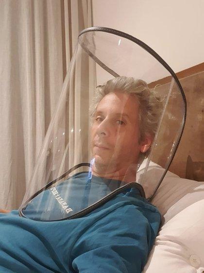 La capota transparente en la que se realizan las nebulizaciones