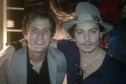 El nieto de Cantinflas y Johnny Depp convivieron en Los Ángeles en 2011 (IG: soymariomoreno)