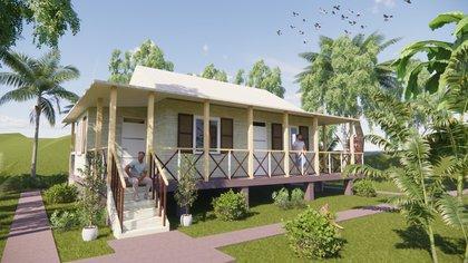 Imágenes de algunos de los nuevos modelos de casa que tendrá la isla de Providencia. Cortesía: Ministerio de Vivienda