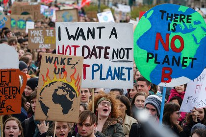 El movimiento Fridays for Future (JOE KLAMAR / AFP)