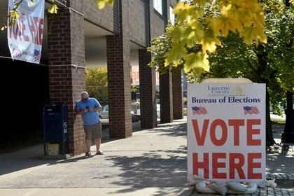Colegio electoral en Pensilvania, EEUU (Europa Press)