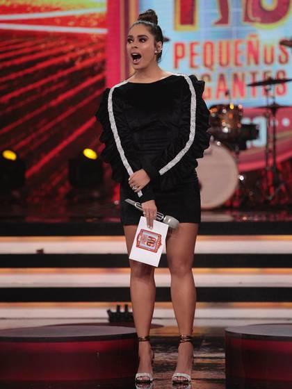 Todos sus looks han destacado las piernas de la presentadora (Instagram: galileamontijo)