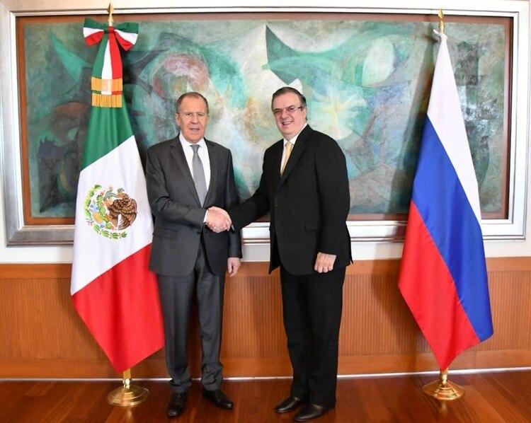 El canciller ruso Sergei Lavrov hizo el anuncio tras una reunión con su homólogo mexicano Marcelo Ebrard (Foto: Archivo/ SRE/Reuters)