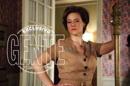 Virginia Innocenti, otra de las grandes actrices convocadas, en el rol de una millonaria en decadencia.