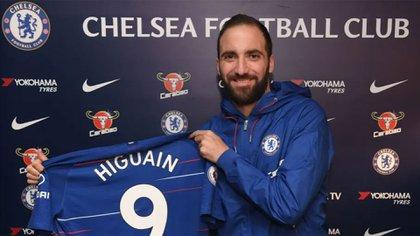 El nivel de Gonzalo Higuaín en la Premier League estuvo lejos de ser el que mostró en la Serie A (Chelsea FC)