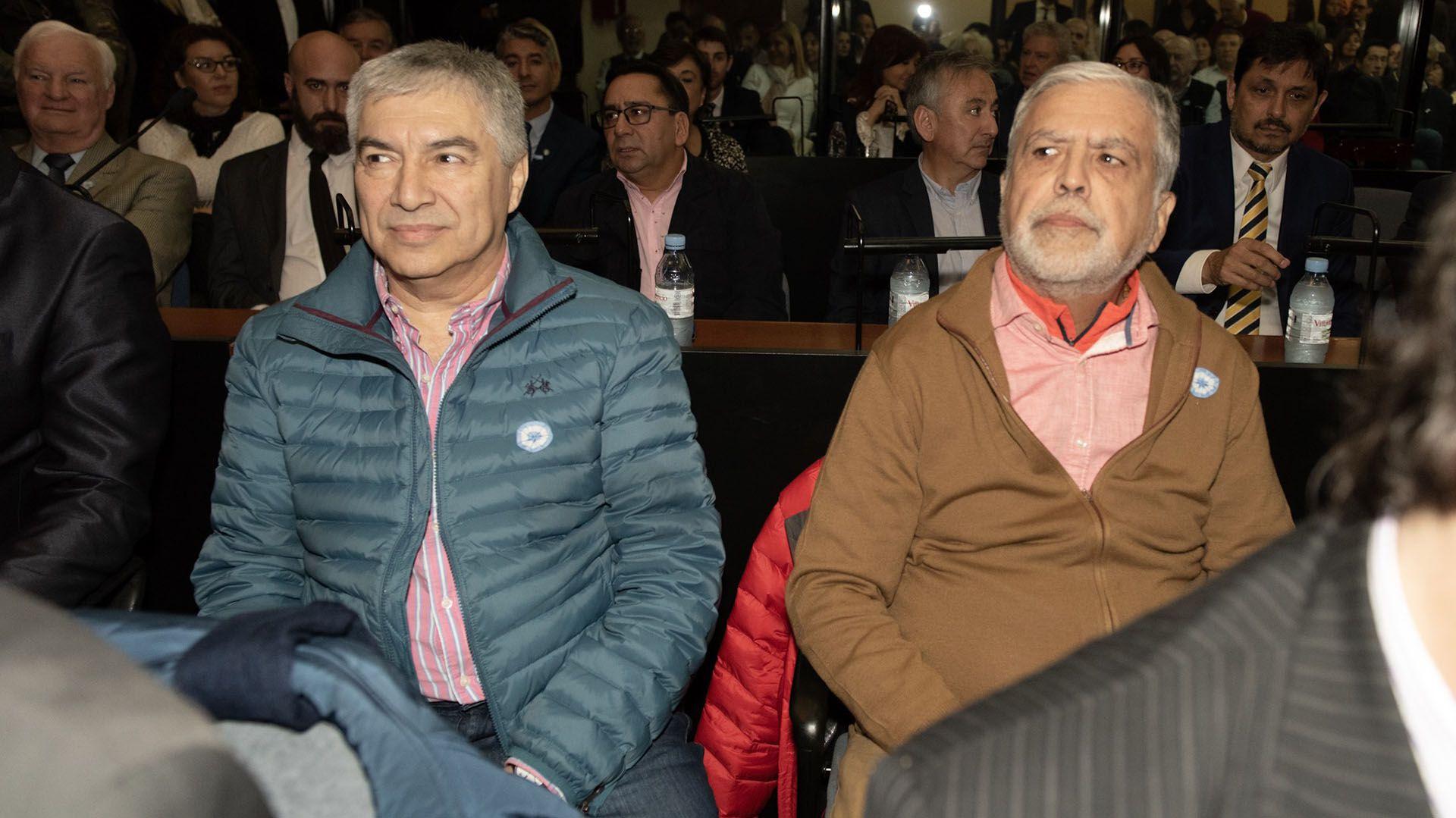 Báez y De Vido, ambos detenidos y dos de los 13 acusados del caso (Adrián Escandar)