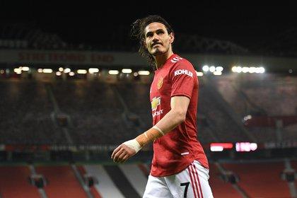 Cavani termina su contrato con Manchester United en junio (REUTERS/Oli Scarff)