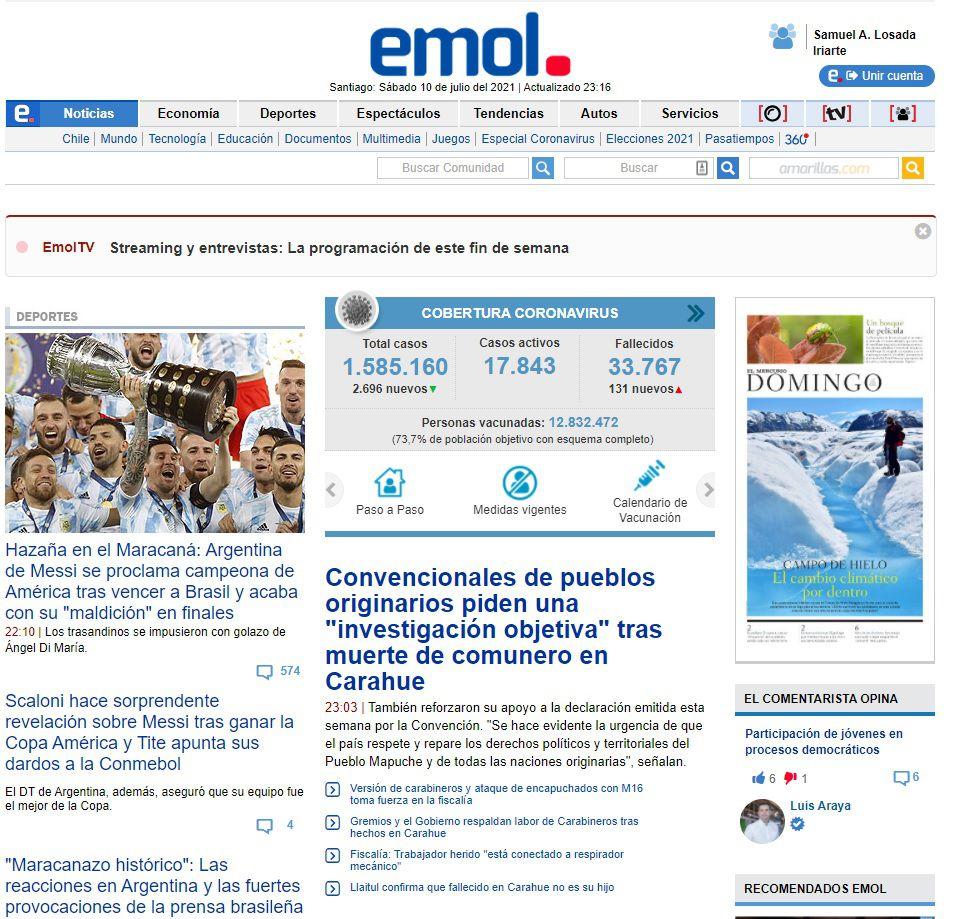 El Mercurio, Chile.