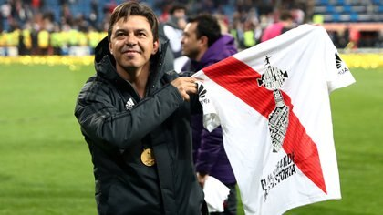 """""""El Muñeco"""" vio el partido desde un palco (Reuters)"""