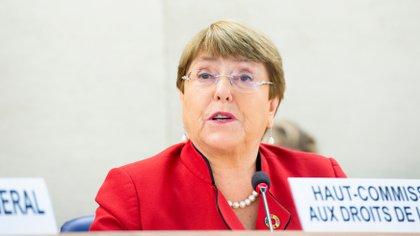 La oficina de Michelle Bachelet, alta comisionada para los derechos humanos de la ONU, expresó su preocupación por la situación de Perú (POLITICA INTERNACIONAL/VIOLAINE MARTIN)