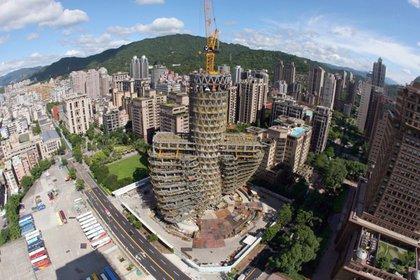 La obra se inició en 2013 y se prevé finalizar en septiembre de este año (Vincent Callebaut Architectures)