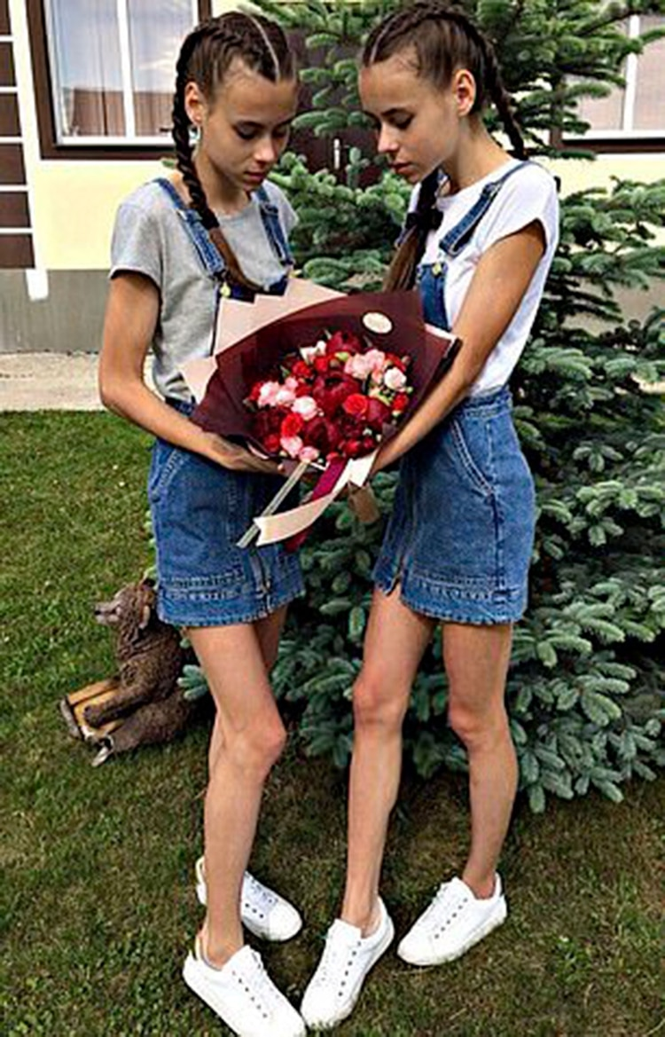 Dasha y Masha apenas comían durante el día pese a los ruegos de su madre, Natalia