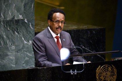 01/01/1970 The president of Somalia, Mohamed Abdulahi 'Farmajo' addresses the UN General Assembly AFRICA POLITICS INTERNATIONAL SOMALIA MICHAEL BROCHSTEIN / ZUMA PRESS / CONTACTOPHOTO