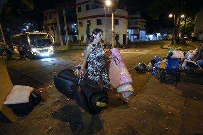 Una venezolana en territorio colombiano (Juan BARRETO / AFP)