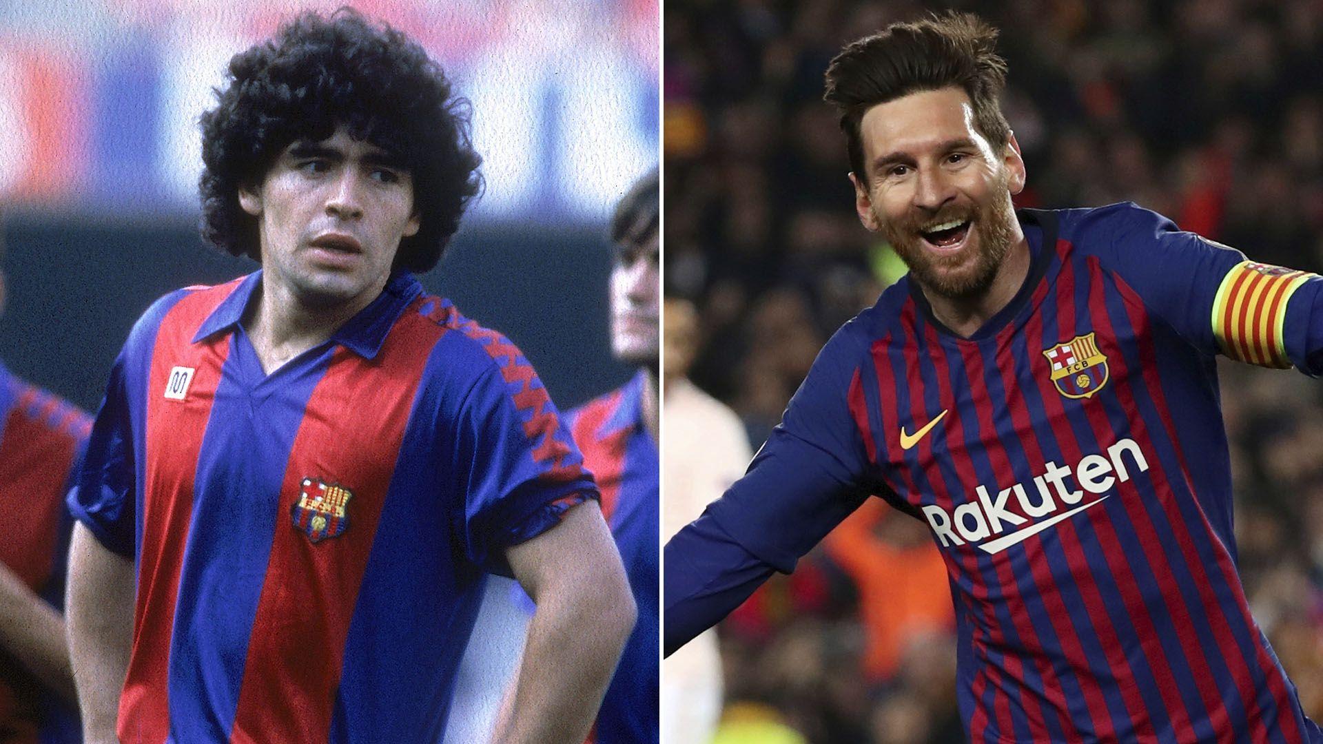 maradona messi barcelona