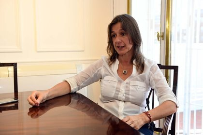 La ministra de Seguridad de la Nación, Sabina Frederic, participó de la reunión con representantes de la cadena agroindustrial (Maximiliano Luna)