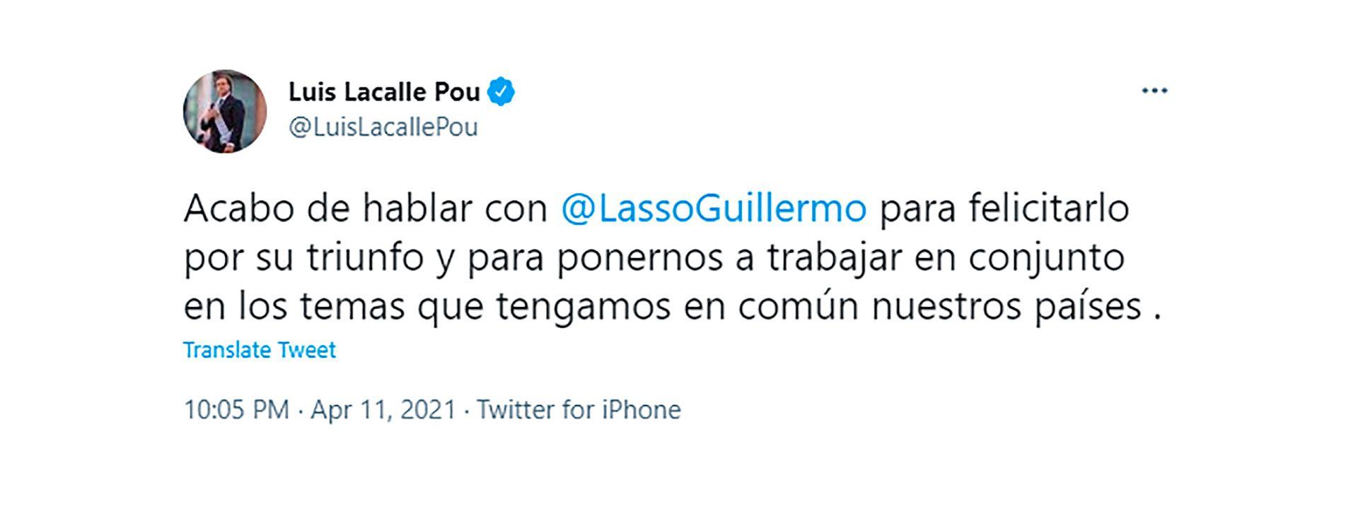 lacalle por uruguay ecuador guillermo lasso