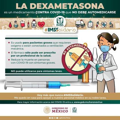 IMSS informó sobre dexametasona (Foto: IMSS)