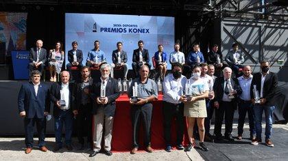 Todos los galardonados que pudieron estar presente en la Ciudad Cultural Konex (Maximiliano Luna)