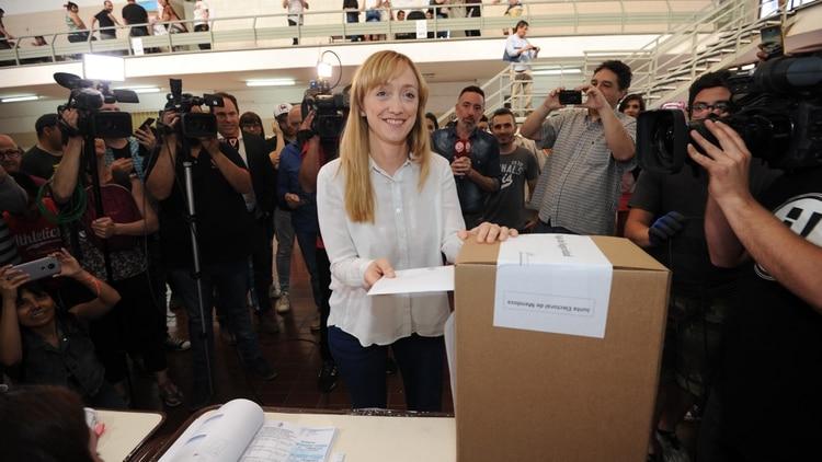 La candidata del Frente de Todos Anabel Fernández Sagasti