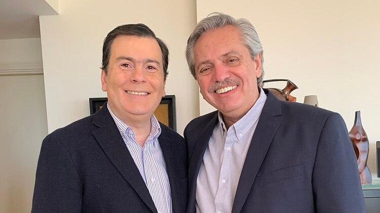 Alberto Fernández se reunió con el gobernador de Santiago del Estero y logró su respaldo (@GZamoraSDE)