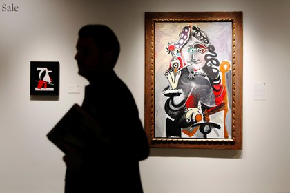 """Mousquetaire a la pipe"" expuesto en Sotheby's (REUTERS/Lucas Jackson)"