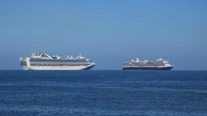 Los buques que arribaron a Puerto Vallarta no tienen pasajeros, sólo tripulantes. Hasta el momento van 15 por razones humanitarias, desde que empezó la contingencia sanitaria (Foto: Secretaría de Comunicaciones y Transporte)