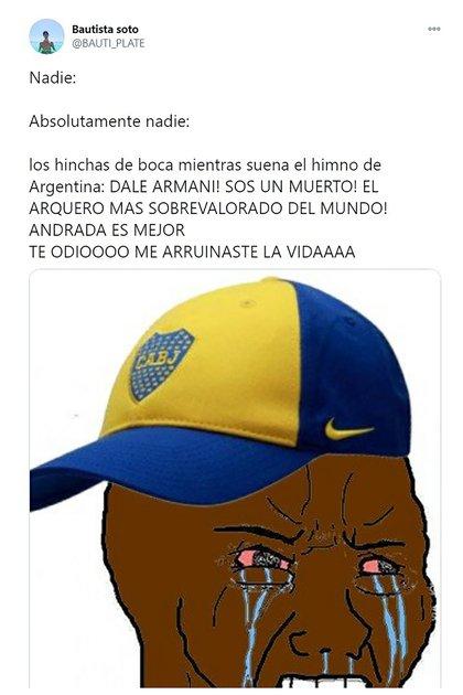 Con Franco Armani como eje de las burlas, los mejores memes del triunfo de Argentina en Bolivia