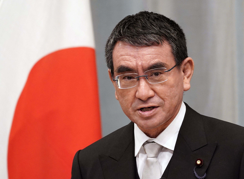 Taro Kono, en una imagen de archivo. EFE/EPA/FRANCK ROBICHON