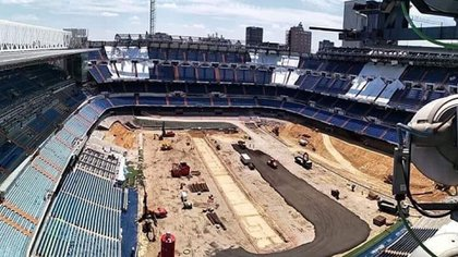 Así está hoy el hogar del Real Madrid (@nuevoestadiobernabeu)