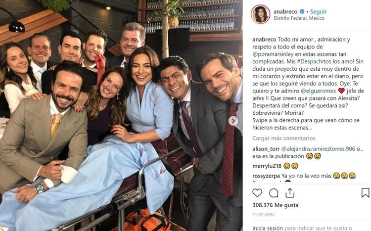 La actriz compartió una serie de imágenes y videos de las escenas, que catalogó como las más difíciles para su personaje (Foto: Intagram- @anabreco)